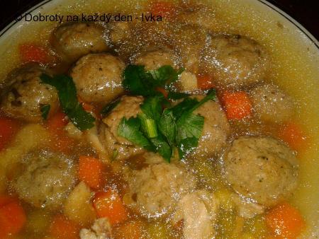 Játrovo-zázvorové knedlíčky do polévky  + polévka ze slepice
