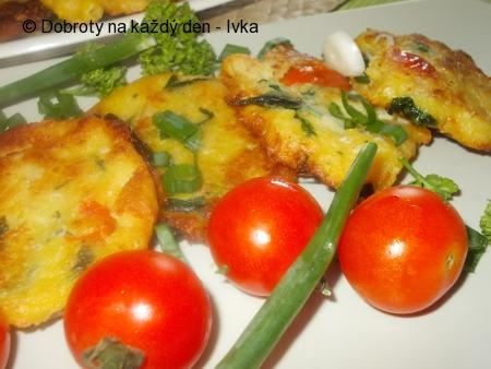 Chřestovo-špenátové, bramborové placičky
