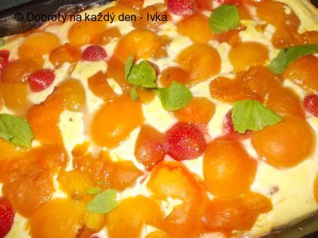 Velejemný dezert s tvarohem,pudingem a meruňkami