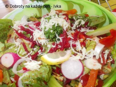 Zdravý salátek z několika druhů zeleninky
