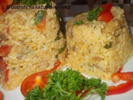 Rizoto s houbovo-zeleninovou směsí