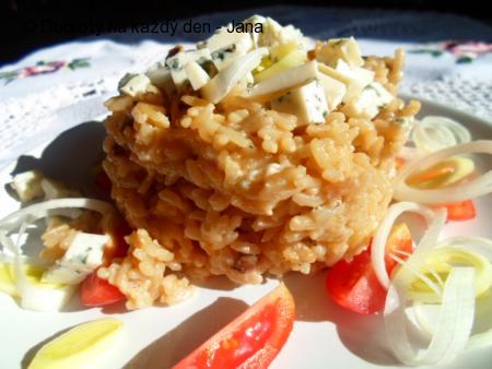 Houbovo-Nivové rizoto