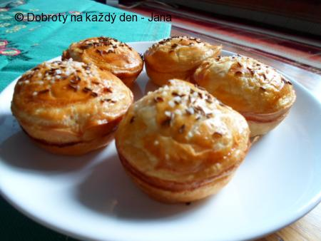 Listové muffiny s houbami