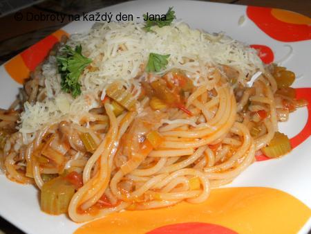 Pikantní hlívové špagety