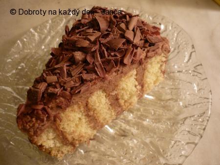 Čokoládo - šlehačkový dort