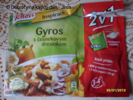 Gyros s česnekovým dresinkem