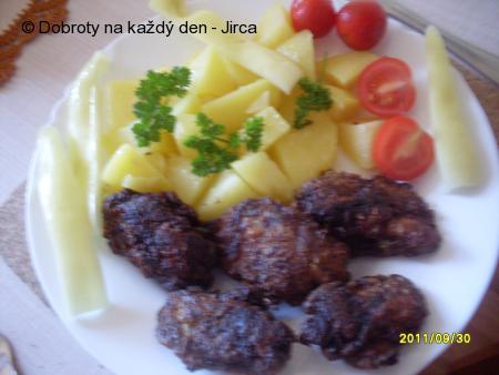 Bazalková kuřecí játra