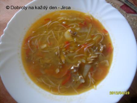 Čínská polévka po našem