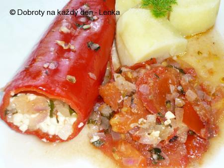 Dietní plněné papriky