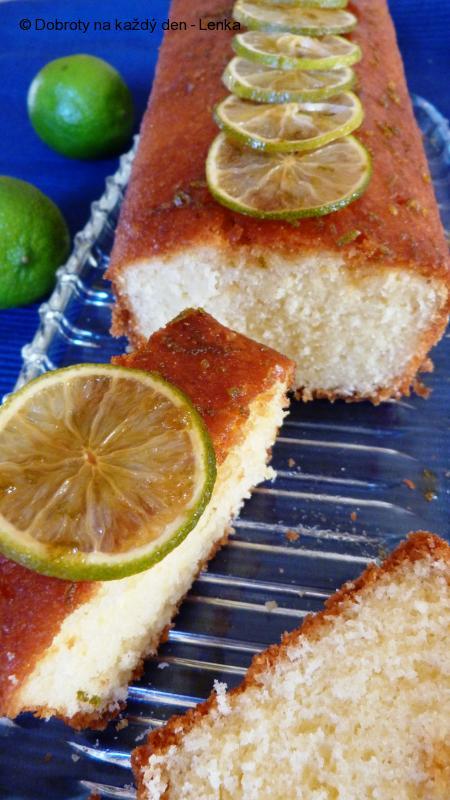 Jogurtovo-kokosový koláč s limetkami