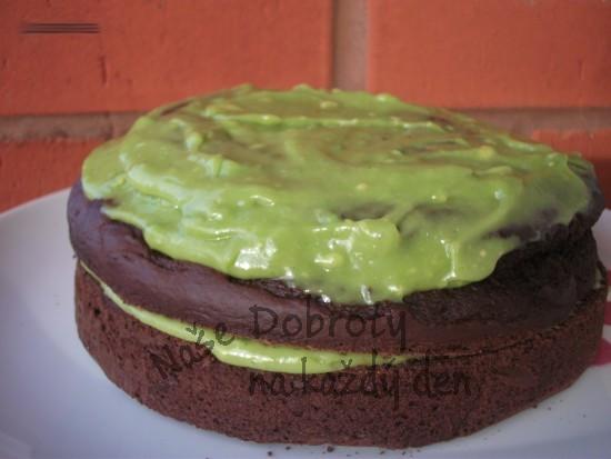 Avokádovo-čokoládový dort