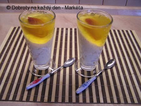 Tvarohovo - broskvový dezert