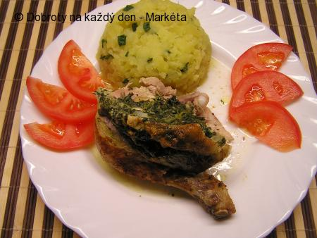 Kuře plněné špenátem a sýrem