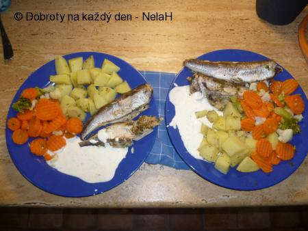 Hejk s bramborami a zeleninou z parního hrnce