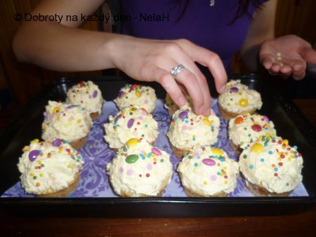 Muffiny s pudingovou zahrádkou