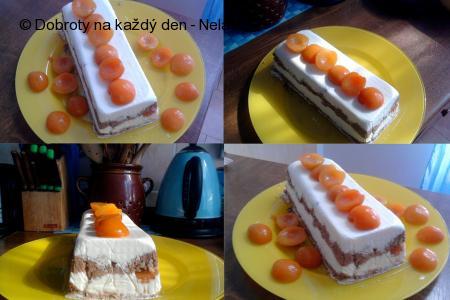 mražený meruňkový dezert