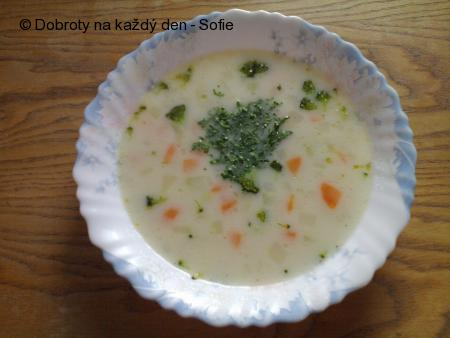 Jarně bílá brokolicová polévková radost
