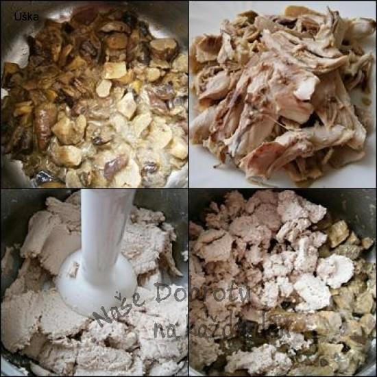 Kuřecí maso s hříbky