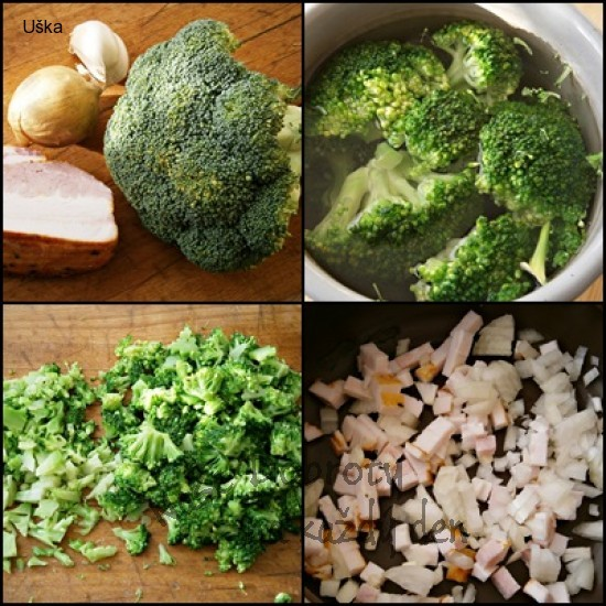 Brokolice jako příloha k různě upravenému masu