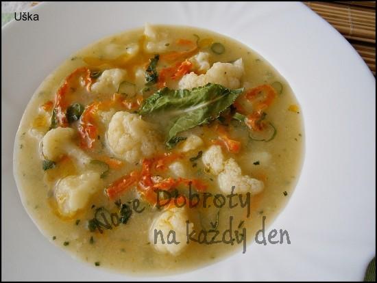 Květáková polévka-rychlovka z papiňáku