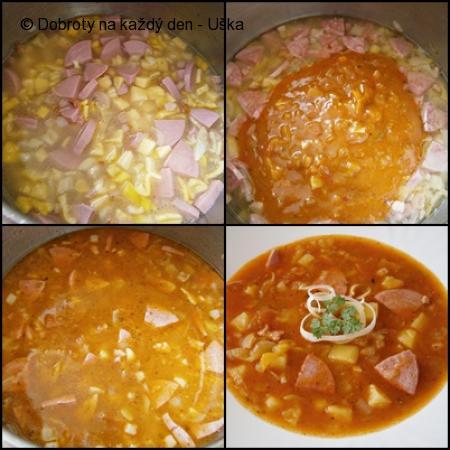 Gulášová polévka s použitím šťávy z guláše