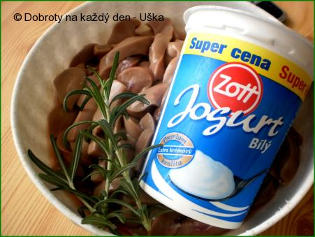 Rozmarýnové ledvinky v jogurtu