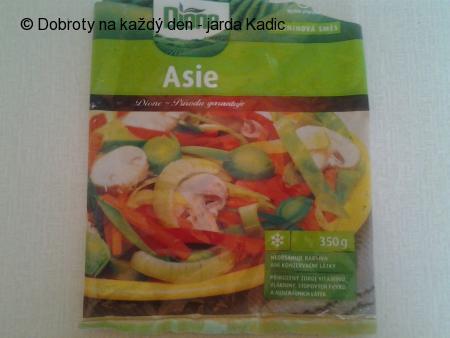 """Kuřecí nudličky na zelenině""""Asie"""" se žampiony"""