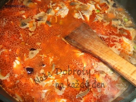 Houbovo - kuřecí rizoto