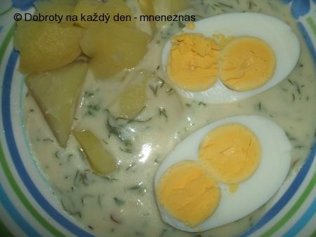 Koprová omáčka s vajíčkem