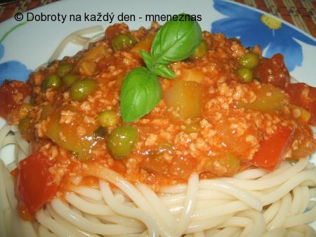 Zeleninovo - sojová směs na špagety