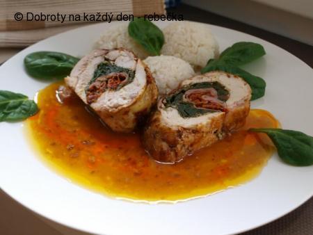 Kuřecí roláda s náplní Pronto per pasta