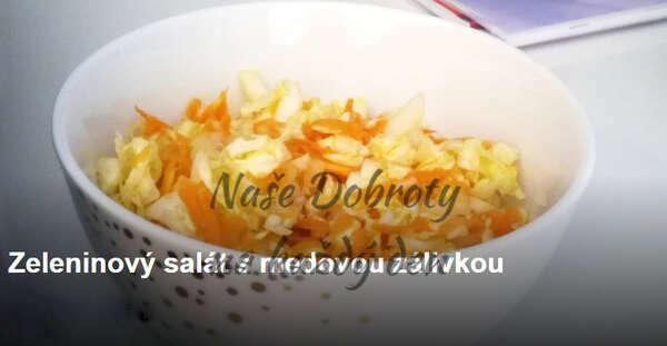 Zeleninový salát s medovou zálivkou
