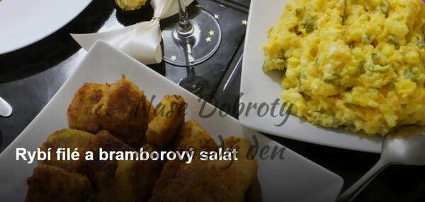 Rybí filé a bramborový salát