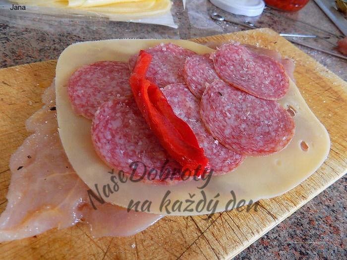 Vepřové roládky se sýrem a Poličanem