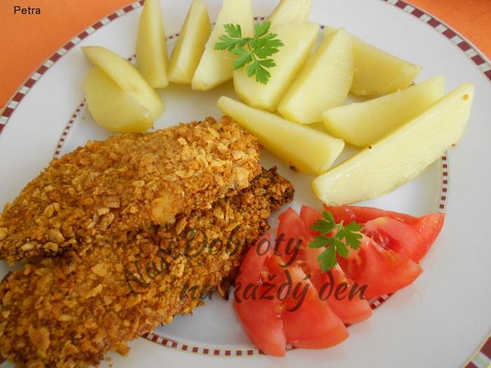 Kuřecí řízky v cornflakes - bez smažení