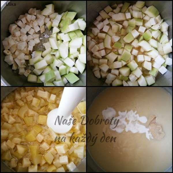 Cuketová omáčka s celerem a hovězím uzeným jazykem