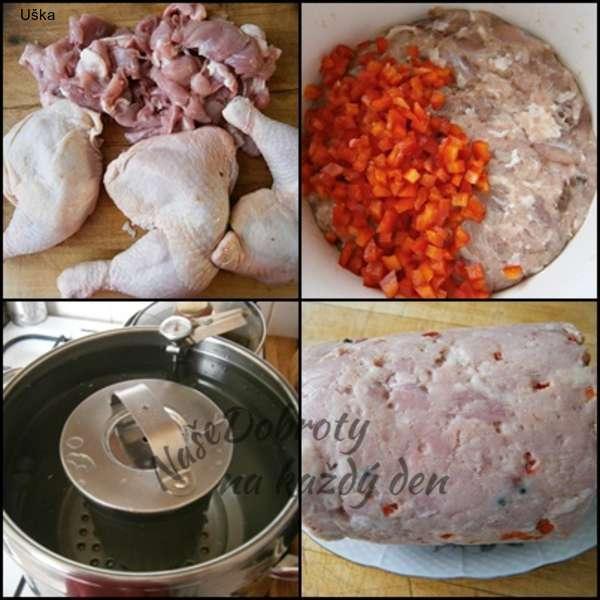 Domácí šunka z mixu drůbežího masa