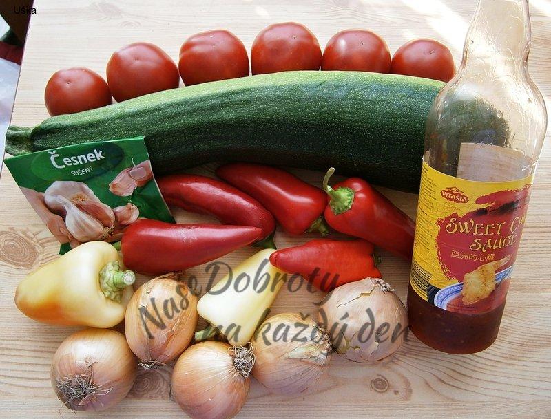 Cuketovo - zeleninová směs nejen na topinku
