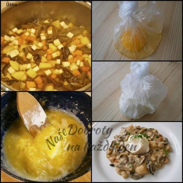 Hřibová omáčka ze sušených hřibů a zeleniny