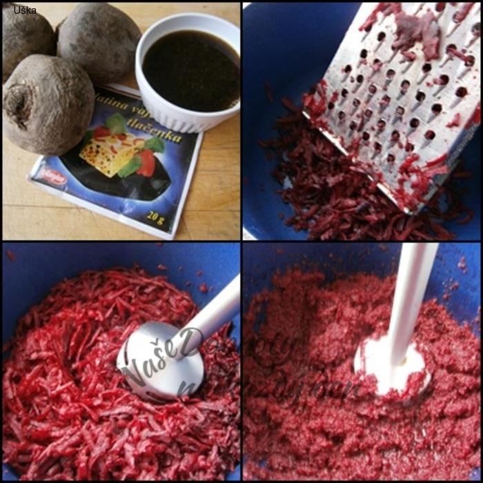 Červená řepa jako chuťovka s cibulí, nebo jako salát