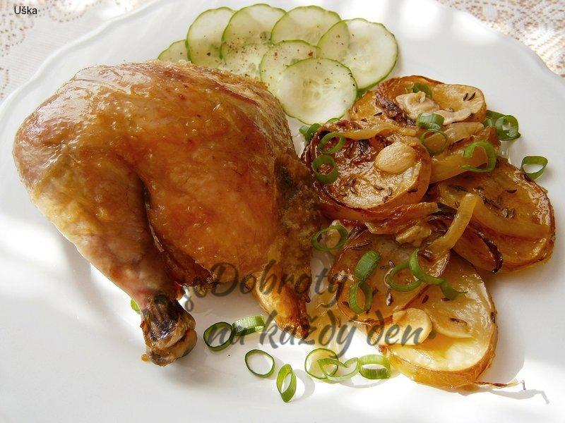 Pečené kuře bez podlívání