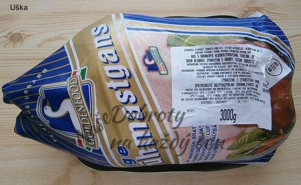 Pomalu pečená husa,předem naložená v rozmarýnově-solném láku