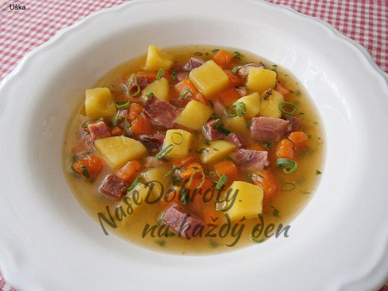 Uzená polévka z hovězího jazyka
