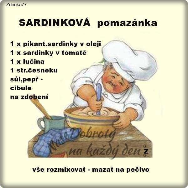 Sardinková pomazánka -