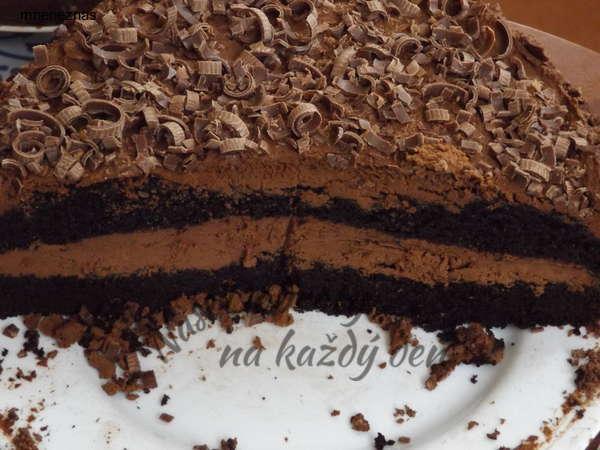 Čokoládový dort s hoblinkami